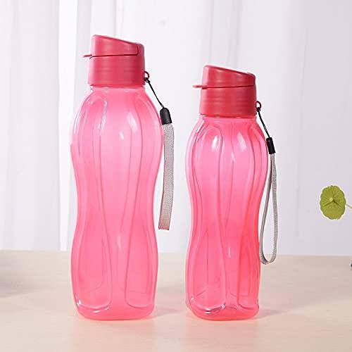 jjh Botella de agua deportiva Ortable portátil Botella de agua para deportes al aire libre Botella de agua de gran capacidad de plástico para deportes y exprimir (capacidad: 1,0 l, color: rojo)