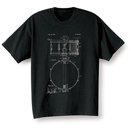 Adult Vintage Patent Snare Drum T-Shirt