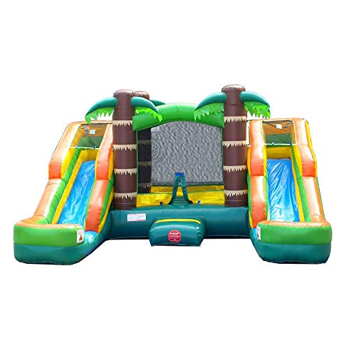 Crossover Tropical Double Slide Inflatable Bounce House -
