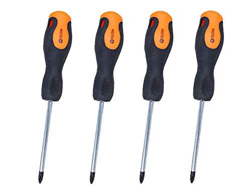 LEDLUX 4 Pezzi Cacciaviti a Croce, Cacciavite Stella, Con Punta Magnetica, Misura PH2 6X100mm