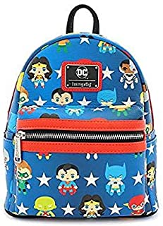 x DC Comics Justice League Chibi Character All Over Print Mini Backpack