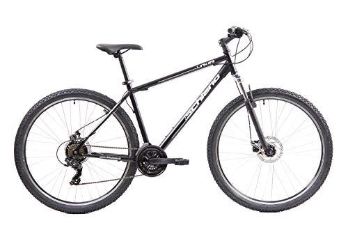 F.lli Schiano LINK29, Bici MTB Uomo, Nero-Bianco, 29'