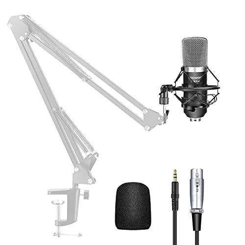 Neewer NW-700 40084726 Professionelle Studio Rundfunk Aufnahme Kondensator Mikrofon Set, inklusive mit Erschütterungsabsorber, Schaum Kappe und Audiokabel, Schwarz