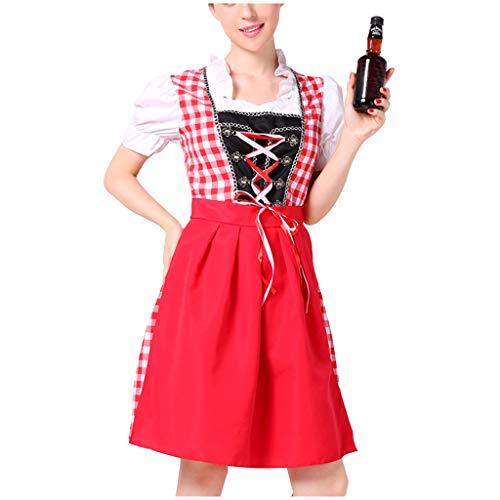 Frauen Bier Festival Kleid Sexy Dessous Cosplay Kostüme Oktoberfest Kostüm Trachten-Set - Kostüm-Set für Frau perfekt Fasching, Karneval Bayerische Bierstube Set Dirndl Abendkleid in Mehreren Größen