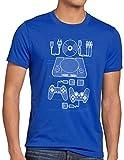 style3 PS1 Retro Gamer Camiseta para Hombre T-Shirt Mando videoconsola, Talla:XL, Color:Azul