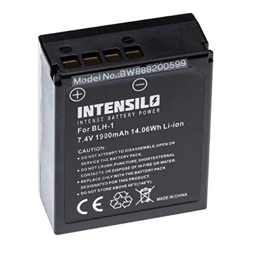 INTENSILO batería reemplaza Olympus BLH-1 para cámara (1900mAh, 7.4V, Li-Ion) con Chip