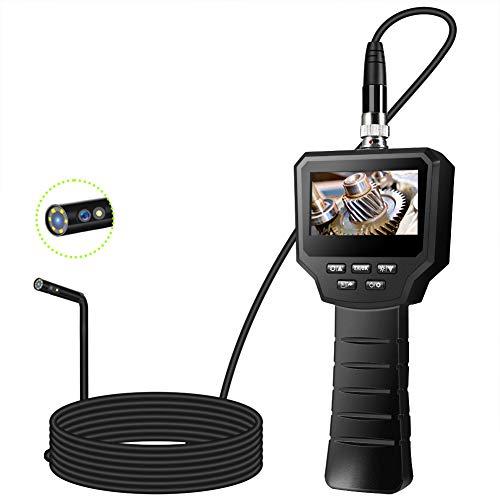 VOLADOR Industrie Endoskop, 3,0 Zoll 3,0 Megapixel 1080P HD IPS LCD Digitale Inspektionskamera, Eingebaute 1800-mAh-Akku Endoskopkamera, IP67 Wasserdichtes 6-LED Video Boreskope (5M, Zwei Linsen-8mm)