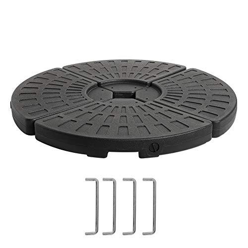 GOTOTOP Base para Sombrilla de 4 Partes con Ganchos de Fijación de Metal Soporte de Pie para Parasol 102 x 102 x 8cm