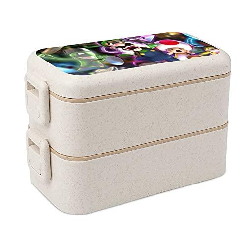 Luigis Mansion - Cajas apilables para almacenamiento de alimentos portátiles, almuerzos escolares y para adultos y niños, seguridad y salud