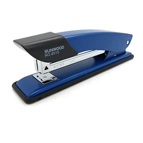 Sunwood® Heftzange Tacker Heftgerät blauer Bürotacker aus Metall (heftet bis zu 12 Blatt)