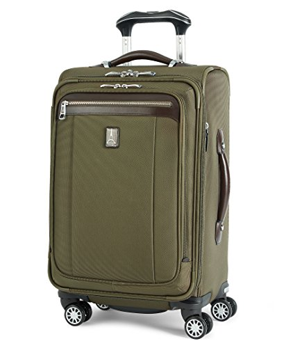 Travelpro Platinum Magna 2-Softside Expandable Spinner Wheel Luggage, Olive, Carry-On 21-Inch