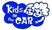 Kids in the car  ベービーインザカー 子供が乗ってますステッカー (ブルーBLUE)