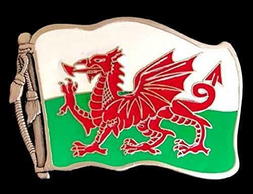 Flag of Wales Y Ddraig Goch The Buc Belt Buckle Belts Discount 4 years warranty mail order Red Dragon