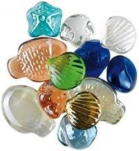 MaRécréation-MesBilles-12 12 Billes Formes de la mer, VP-Z6X1-5WWH, Multicouleur