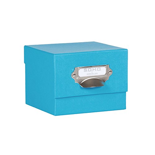Rössler SOHO 165mm x 150mm A4 Photo Box with Handle and Index Holder - Pacific Blue