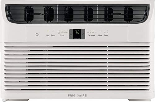 Deals FFRA102WA1 19 inch Window Mounted Room Air Conditioner with 10000 BTU Cooling Capacity, 10.9 CEER, Effortless Temperature Control, Sleep Mode and Remote Control in White