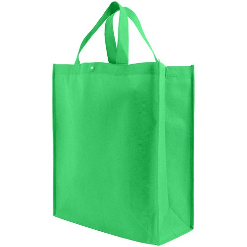 Reusable Grocery Tote Bag Large 10 Pack - Kelly Green
