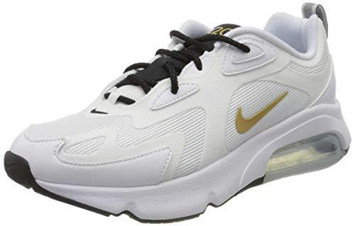 Nike W Air Max 200, Scarpe da Corsa Donna, Multicolore (White/Metallic Gold/Black 102), 36.5 EU