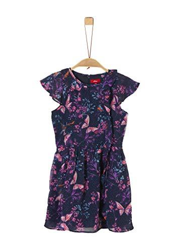 s.Oliver Junior Mädchen Kleid für besondere Anlässe, 59a4 Dark Blue Aop, 128/REG