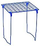 LockerMate Stac-A-Shelf Locker Shelf, Stackable, Extra Tall, Fits Standard Size School Lockers, Blue