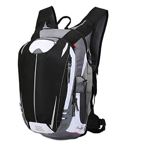 MH-RING 18L Bike Backpack Waterproof, Mountain Bicycle Rucksack with Reflective Strips for Suitable for Mens and Womens Outdoor Travel and Camping (Color : Black)