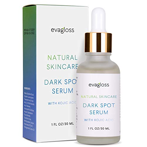 Evagloss Dark Spot Corrector Serum with Kojic Acid and Natural Ingredients for Face & Body, All Skin Types (Serum)