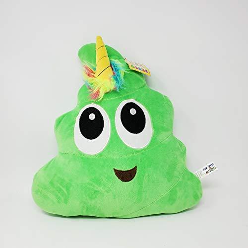 Green Poo-Nicorn Emoji Pillow, The …