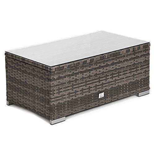 SVITA Queens 2020 Poly Rattan Sitzgruppe Couch-Set Ecksofa Sofa-Garnitur Gartenmöbel Lounge Schwarz, Grau oder Braun (Braun) - 7