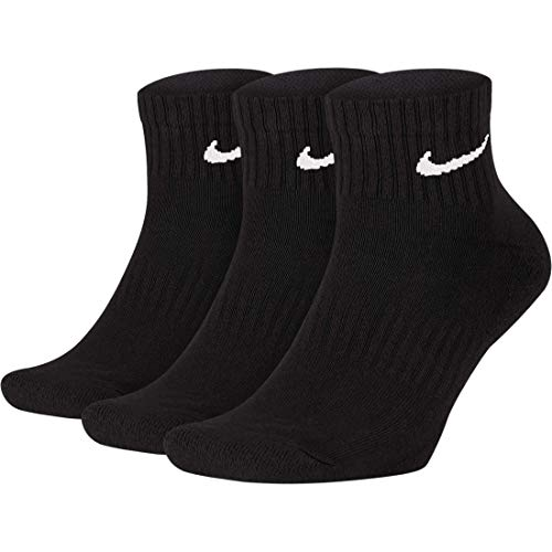 Nike Cushion Quarter Socks Socken 3er Pack (M, black/white)