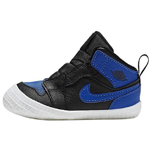 Nike Jungen Jordan 1 Crib Bootie Sneaker, Mehrfarbig (Black/Varsity Royal-White 007), 17 EU