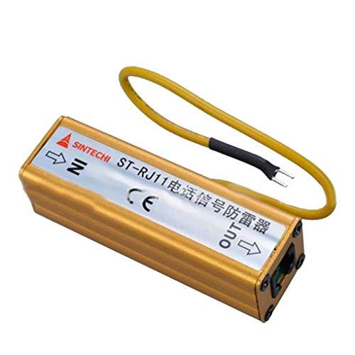 Fornateu Teléfono Fax RJ11 RJ11 Protección contra sobretensiones Protector del Trueno Protección contra sobretensiones pararrayos del Dispositivo RJ11