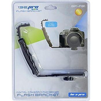Be-Pro Heavy Duty Photography L Bracket with 2 Flash Shoe Mounts