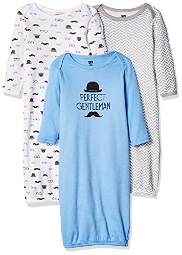 Hudson Baby Baby Cotton Gowns, Perfect Gentlemen, 0-6 Months