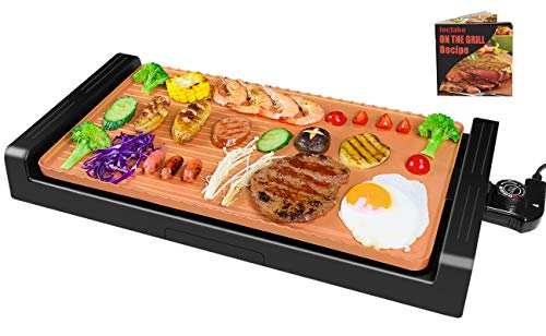 tectake Indoor barbeque Grill-Electric Griddle Grill Indoor,Nonstick...