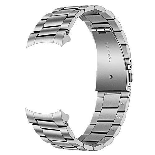 Correas de Reloj Correa de Reloj de Acero Inoxidable Desmontable a Mano + Clips sólidos sin Espacios para Reloj 46Mm / Gear S3 Correa de Correa de liberación rápida Compatible con Relojes