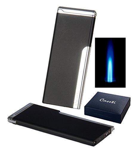 Caseti Paris Feuerzeug Antibes Jetflamme black inkl. Lifestyle-Ambiente Tastingbogen
