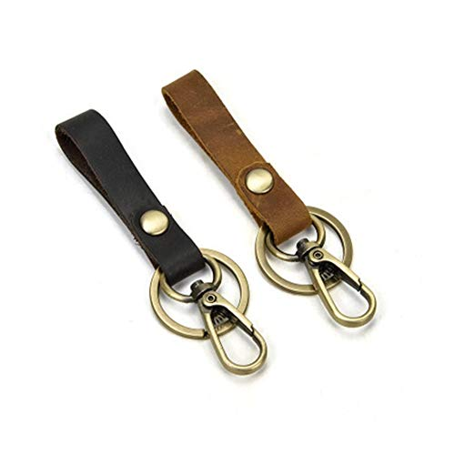 Portachiavi per auto Genuine Leather chiave di Keychain delle donne degli uomini Holder spaccato della mucca Borsa auto chiave Portafoglio Governante caso portachiavi portafogli ( Color : Type6 )