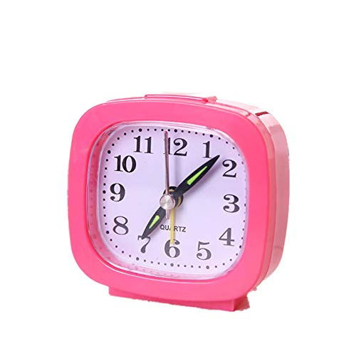 hehuanxiao Reloj Portable Cute Mini Table Alarm Clock Gifts For Student Lovely Cartoon Quartz Movement Beside Children Home Decoration Clock