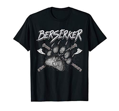 Berserker Rune Bärentatze Äxte Germanen Kleidung Wikinger T-Shirt