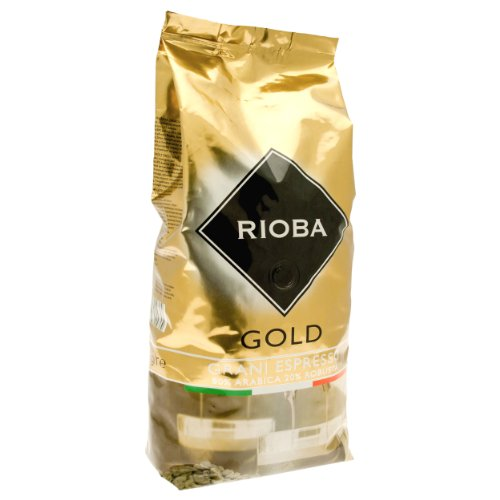Rioba Gold Grani Espresso, gerösteter Kaffee, ganze Bohnen, 80% Arabica & 20% Robusta, 1000g