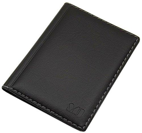 Porta carte d'identità e carte di credito con 4 scomparti MJ-Design-Germany Made in UE in diversi colori e designs (Design 3 / Nero)