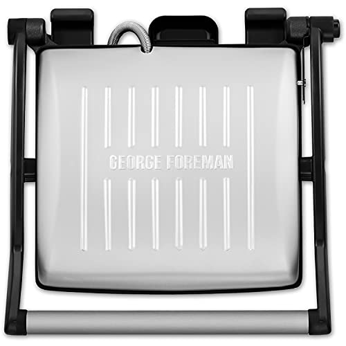George Foreman 26250 Flexe Electric Grill-Flat Open Griddle, Panini Press...