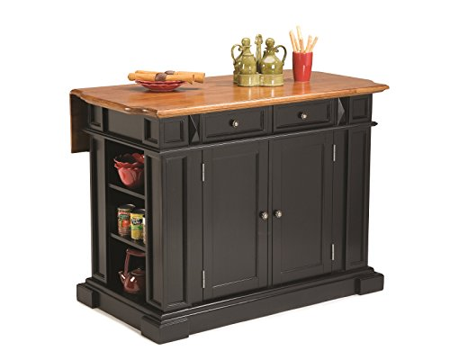 Big Sale Best Cheap Deals Home Styles 5003-94 Kitchen Island, Black and Distressed Oak Finish
