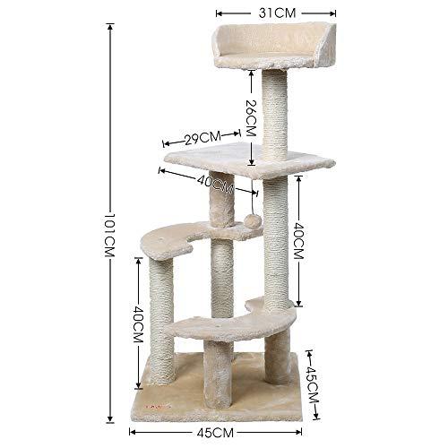 gengxinxin Kratzbaum Für Katzen Kletterbaum Für Katzen S Baum Turm Haustiere Spielen Baum Kratzen Baum Arbre EIN Chat Klettern Springen Spielzeug Rahmen Haustiere Rascador Gato-wj0209beige_XL_1