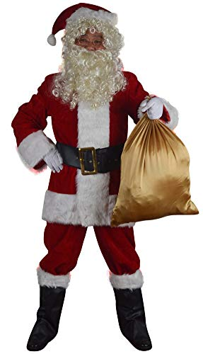 Softsnow Holidays Complete Santa Claus Christmas Suit Costume for Men Red - http://coolthings.us