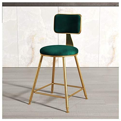 XNLIFE make-up stoel fluweel hoge rug dressing tafel stoel Piano stoel Vanity Kruk zacht gewatteerde gewatteerde stoel met gouden metalen poten voor woonkamer, slaapkamer, eetkamer make-up vanity kruk