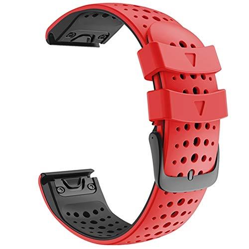 MPWPQ Reloj Strap 26 22mm Colorido QuickFit Correa de Banda para Garmin Fenix 6 6X Fenix 5 5X 3 3 HR 945 Ver Silicone EasyFit Muñequera Correa de la muñeca