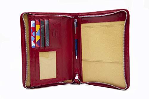 A5 lederen organizer documenttas A5, notebookhouder, notitieblok koffer, lederen planner (rood)