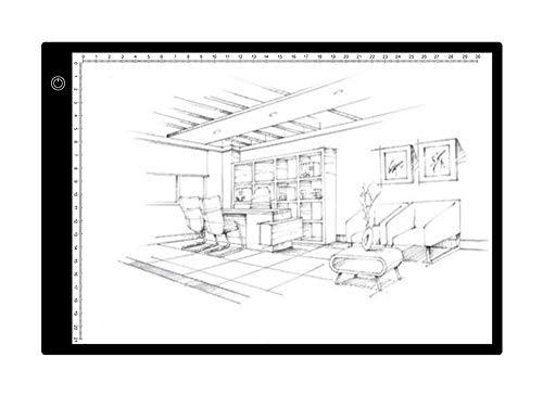 YUYUBAOER lichtgeleiderplaat kopie versie A4 lichtgeleiderplaat grafische digitale tablet elektronisch whiteboard om tekenkopieën op te volgen