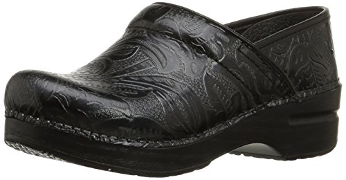 Dansko Women's Professional Black Tooled Clog 9.5-10 M US